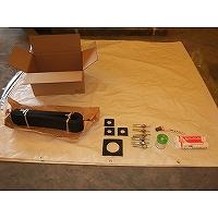 送風機用防音カバーの各種付属品