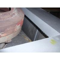 タービンバイパス変換弁用防音カバーの上部の対策前出口配管