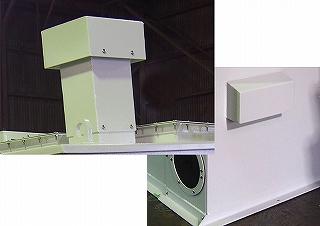 石炭ガス化複合発電設備給水ポンプ用防音カバーの排気筒