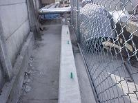 防音壁のコンクリート基礎