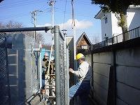 防音壁パネルの組立