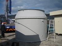 集塵機送風用消音器の外観写真