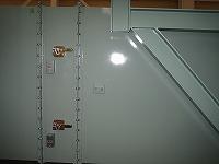 ガスタービン室換気吸気消音器側面の防火ダンパー