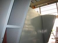 防鳥金網付き雨カバー
