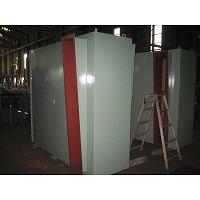 燃焼空気ブロアー用サイレンサの吸込口側