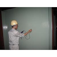 燃焼空気ブロアー用サイレンサの塗装膜厚検査