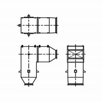 バグフィルタ用ファン排気消音器の外形図