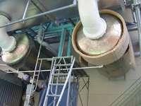 消音器本体への吸音材施工