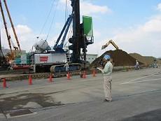 建設工事現場の作業音測定の写真
